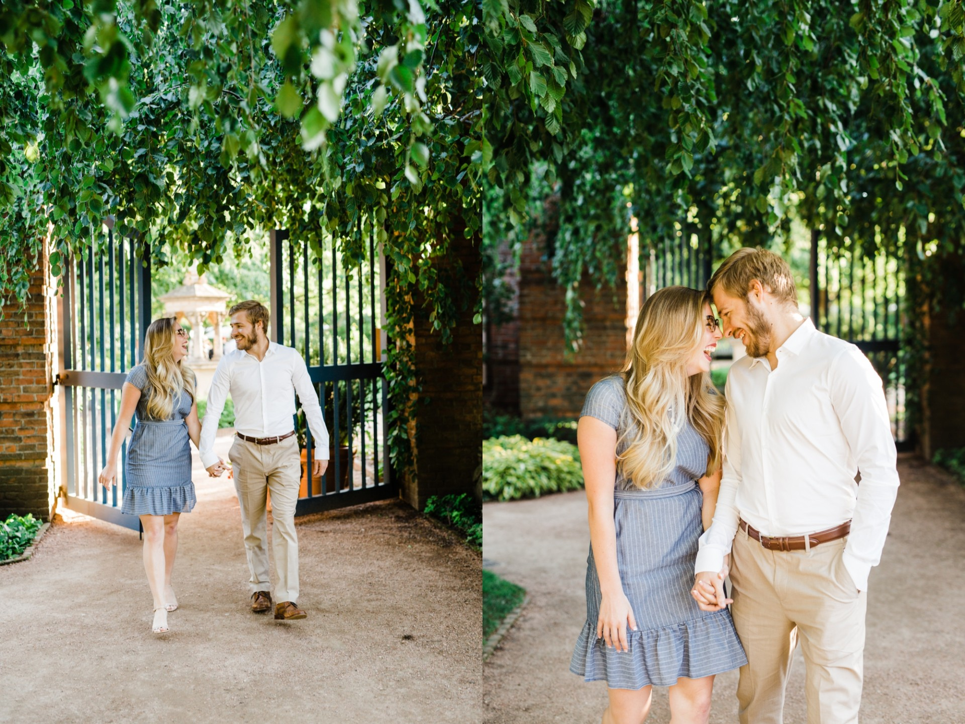 Chicago Botanic Garden Engagement Session Glencoe Il